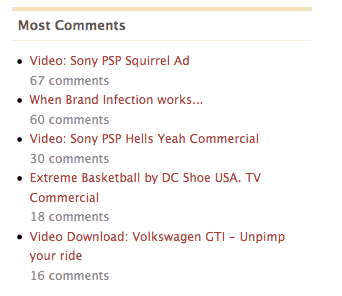 Wordpress plugin meeste comments