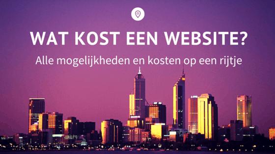 Wat kost een website-