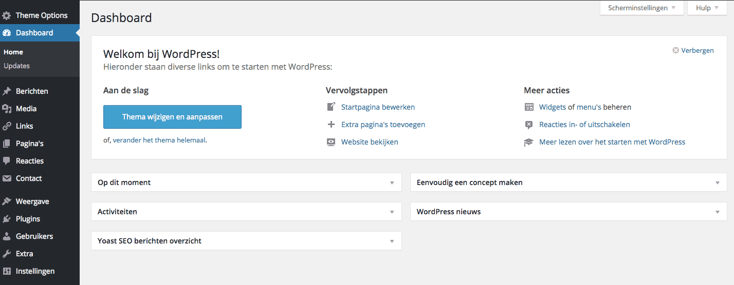 Dashboard - WordPress