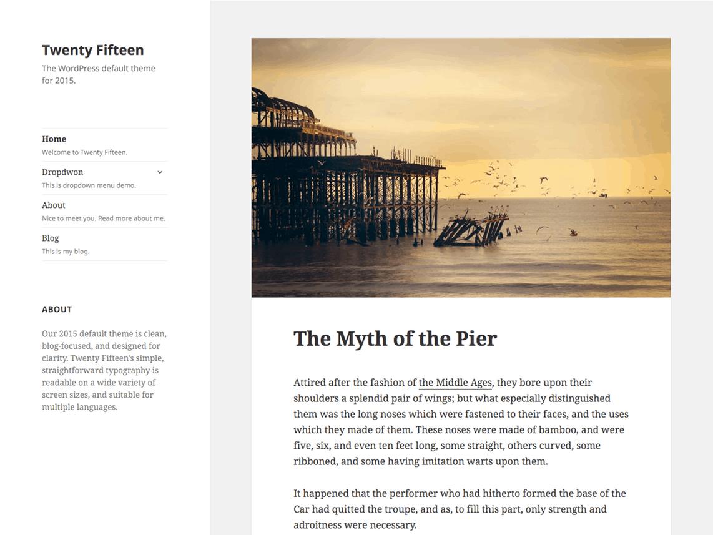 WordPress blog maken: thema Twenty Fifteen