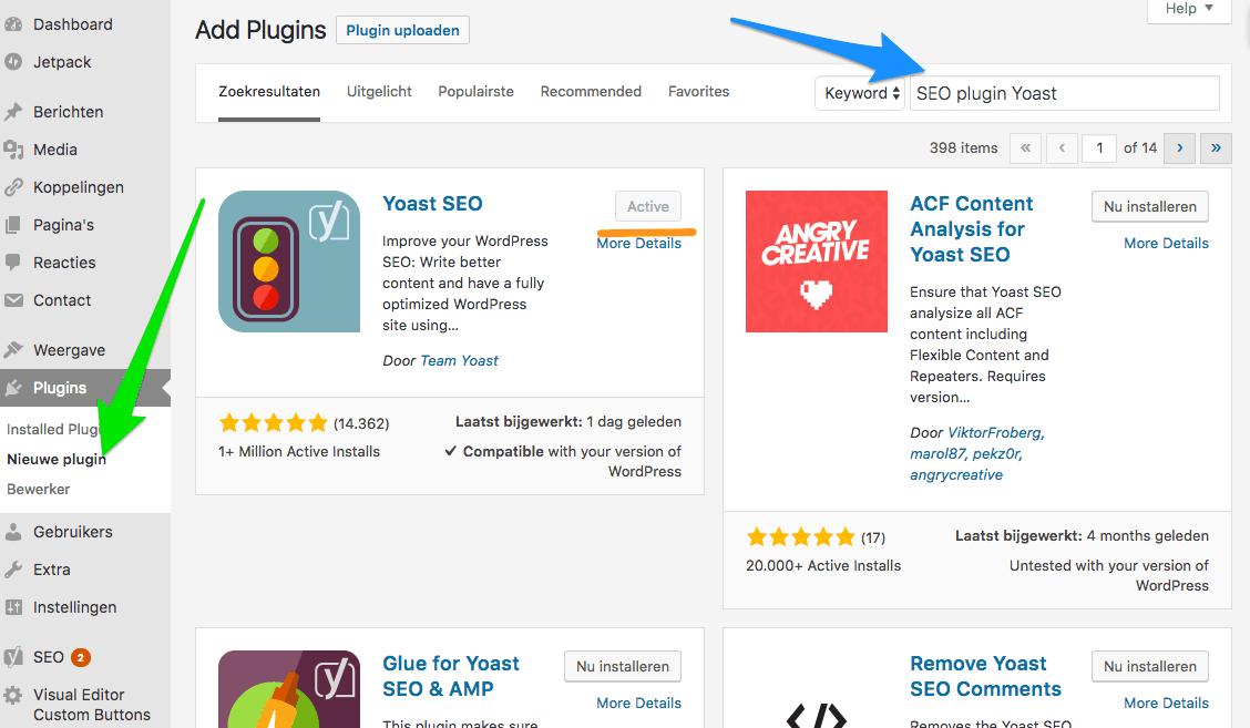 WordPress SEO plugin Yoast