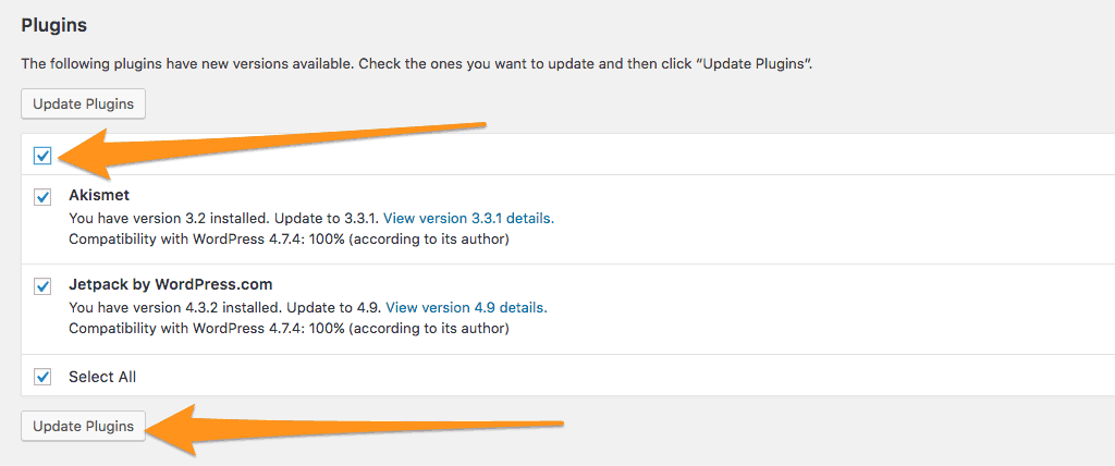Plugins updaten
