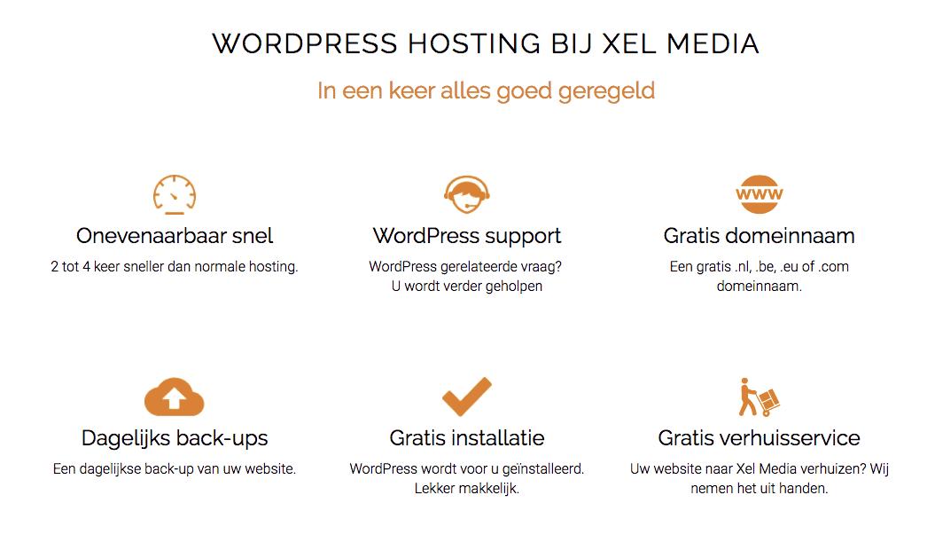 Snelle WordPress hosting met WordPress support