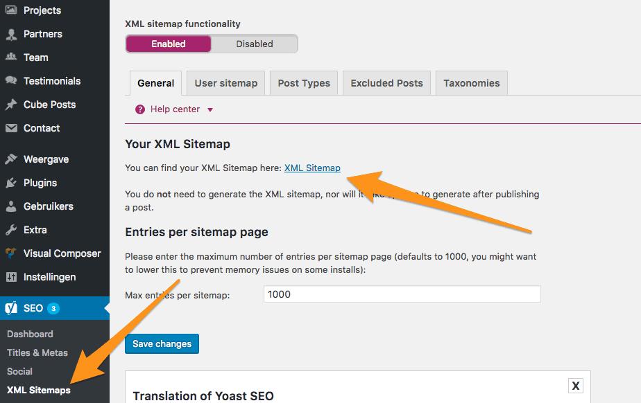 XML Sitemaps   Yoast SEO ‹ — WordPress