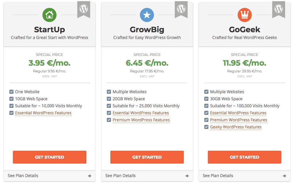 WordPress hosting vergelijken SiteGround