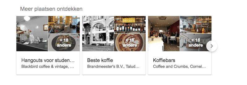 Koffie plaatsen