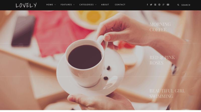 Lovely   Elegant   Simple Blog Theme Preview