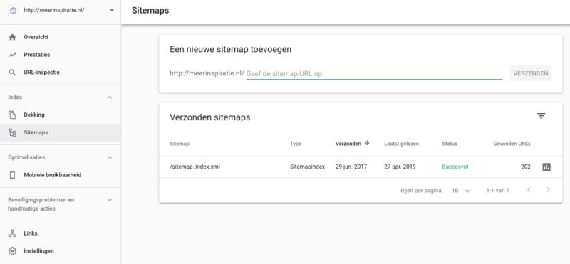 Sitemap toevoegen aan Google