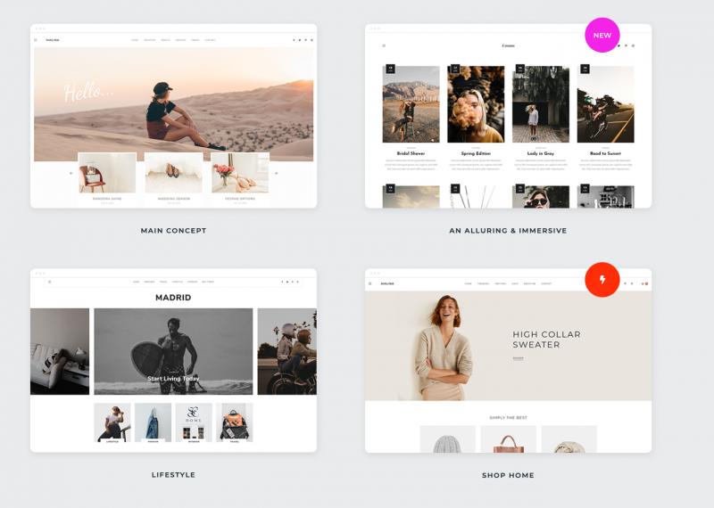 Voorbeelden website designs