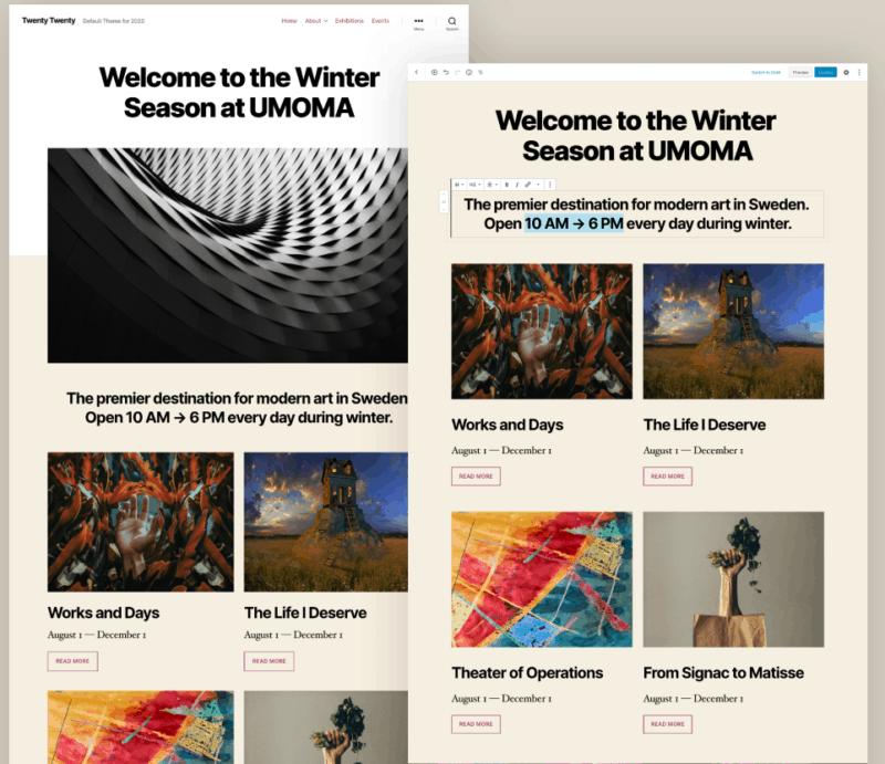 Twenty Twenty Theme van WordPress