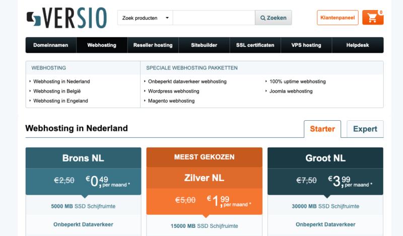 Webhosting in Nederland  Versio
