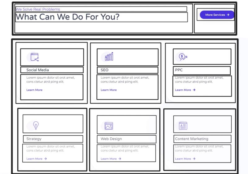 Indeling van website maken met een pagebuilder