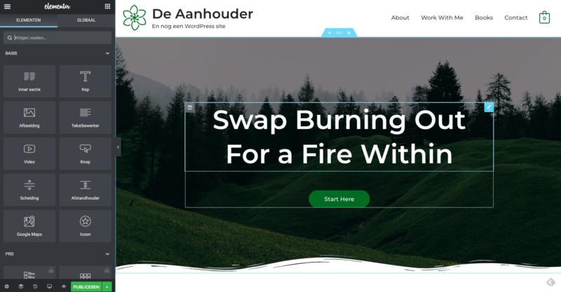 Homepage aanpassen