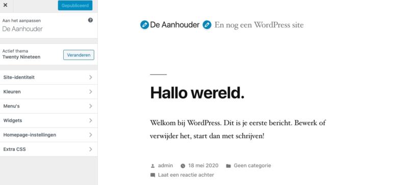 Customizer van WordPress