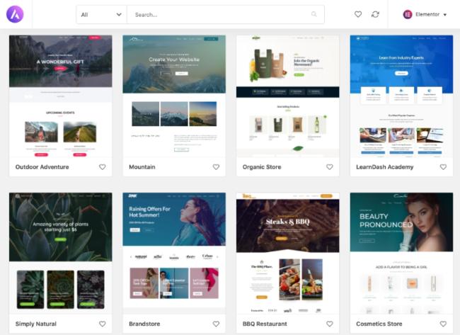 Astra theme van WordPresss